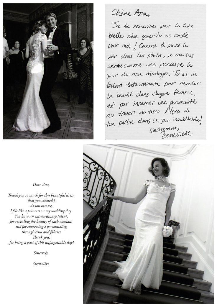 Geneviève, dans la robe du même nom. Geneviève, in the same named gown.