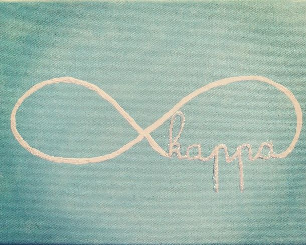 infinity kappa sorority craft: with glitter!!Making this tonight!!