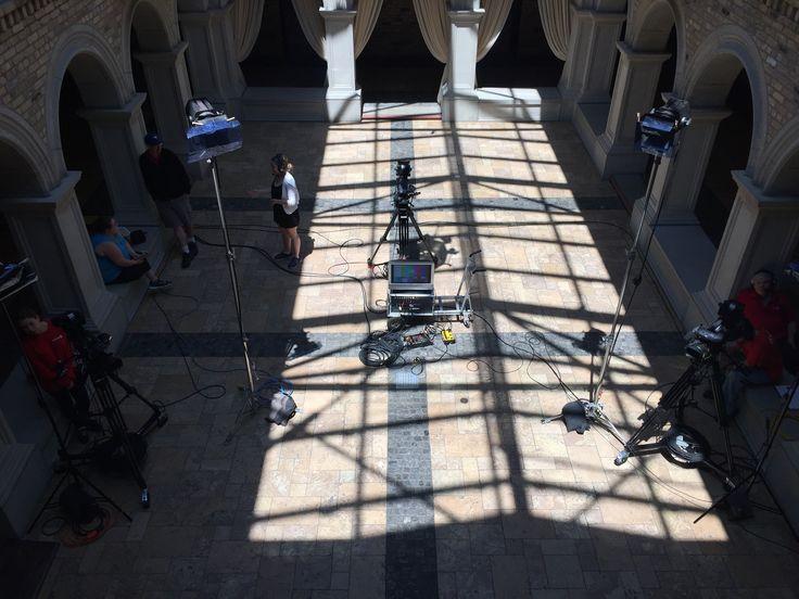 #RogersTV set up in the Hacienda Sarria courtyard #LabourOfLoveKW