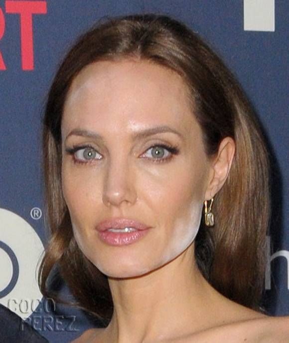 Angelina Jolie's Makeup Mistake! See The Beauty Blunder She Had With Brad Pitt At The Normal Heart Screening HERE!