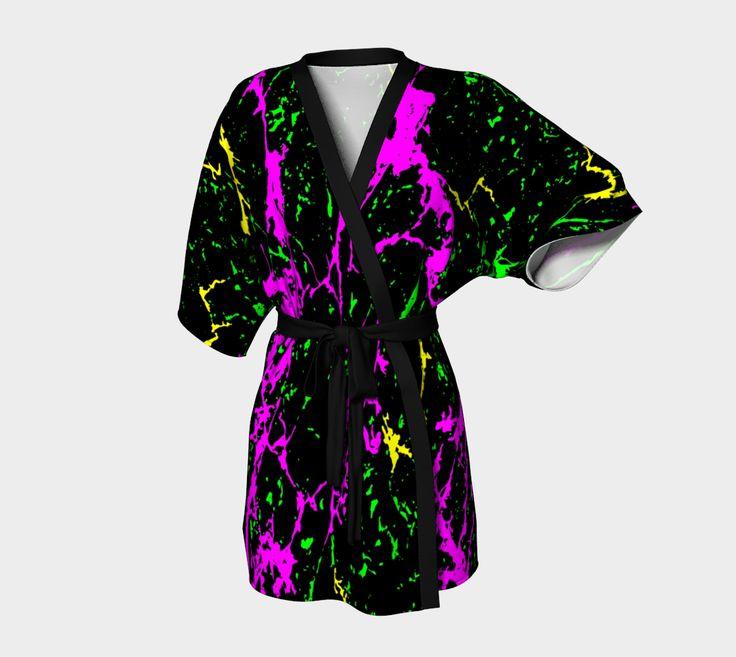 "Kimono+Robe+""Cracked+Heat+Kimono+Robe""+by+Steel+Graphics"