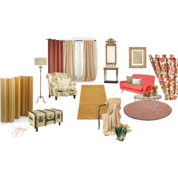 """Vintage living room"" by viktoria-vepy on Polyvore"