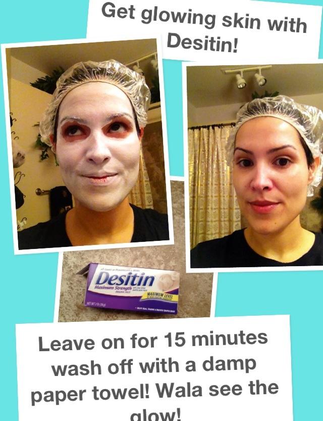 how to get desitin off skin
