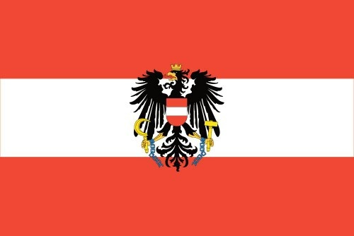 Austrian Flag (with coat of arms)