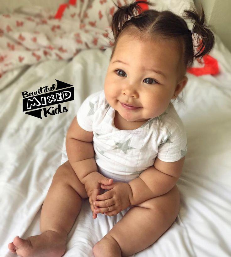 Cruz - 7 Months • African American, Japanese & Filipino ♥️ FOLLOW @BEAUTIFULMIXEDKIDS http://instagram.com/beautifulmixedkids