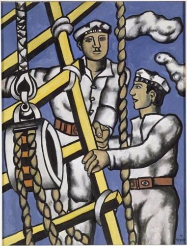 Fernand Leger (1881 - 1955) | Naïve Art (Primitivism) | Composition with two sailors - 1951