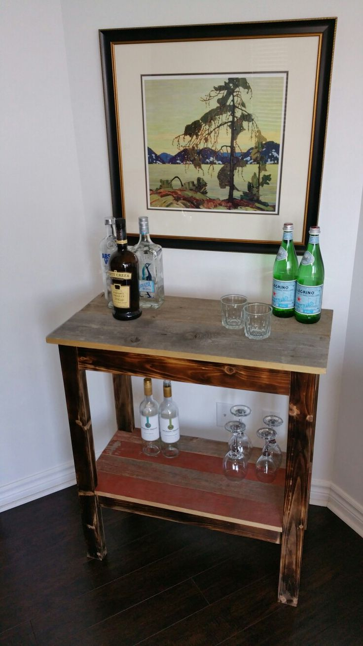 Reclaimed bar table