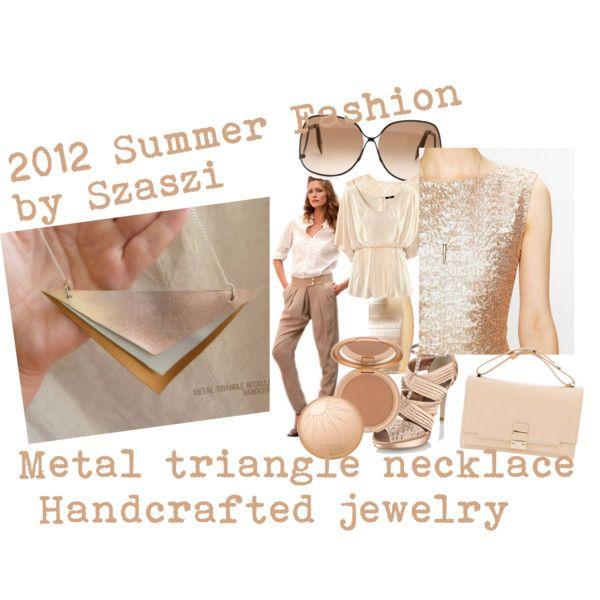 Bronze metal necklace by szaszi 2012 by hunszil on Polyvore