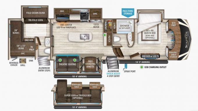 Top 7 5th Wheel Bunkhouse Options For Your Family Grand Design Rv Rv Floor Plans Bunk House