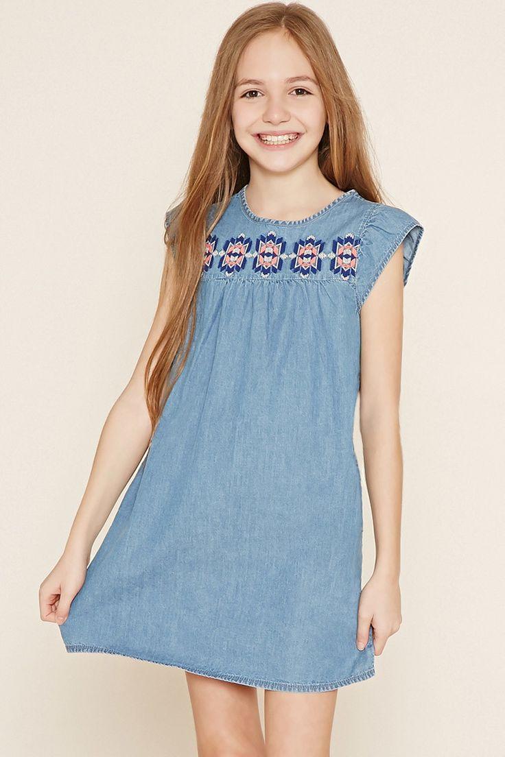 Girls Denim Dress (Kids) | Forever 21 girls - 2000152108