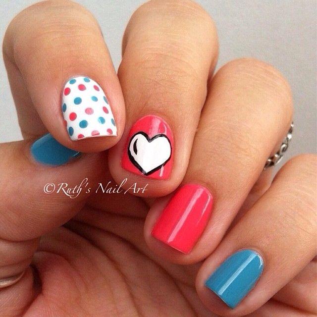 VALENTINE by ruthsnailart #nail #nails #nailart