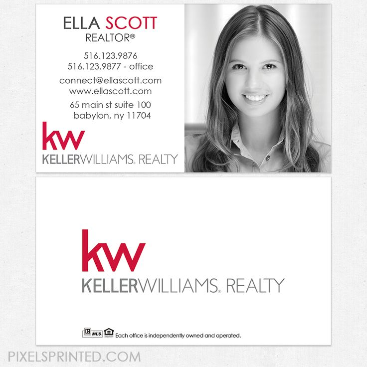 88 best Keller Williams business cards and stationery. images on ...