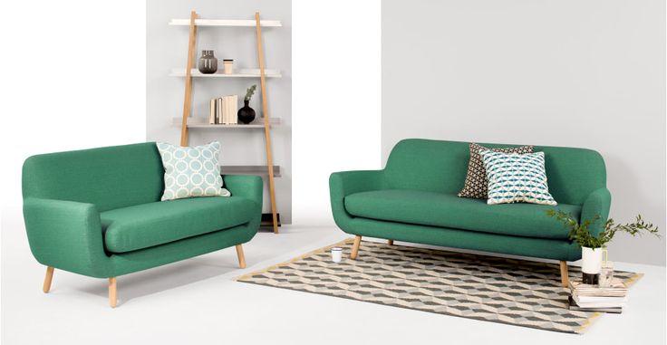 Jonah 2-zitsbank, Pepermunt groen   made.com 699 euro. 3-zits is 799 euro