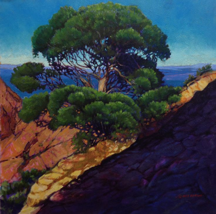 """Cliff's Edge"" $3,800.00 30"" X 30"" Oil Painting"