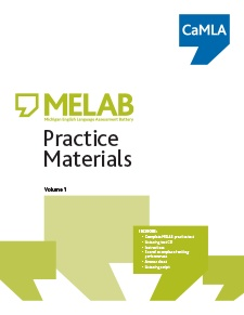 MELAB Practice Materials, Volume 1 contains a full version of the MELAB test and includes: a CD of the listening section, instructions on how to take and score the practice test, how to interpret the results, scored examples of writing performances, the rating scales for the writing and speaking sections, an answer sheet, a script of the listening section
