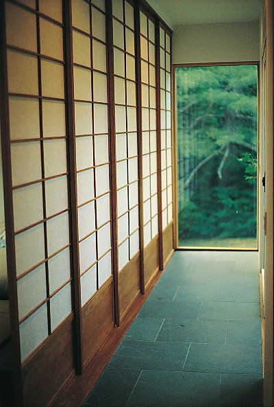 Shoji, sliding doors, as closet/wardrobe doors.  Beautiful.