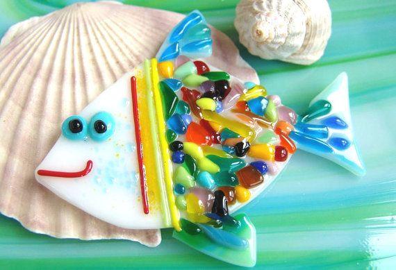 Handgemachte Fused Glass Fisch Wohnkultur Fused von MagicOfArtGlass