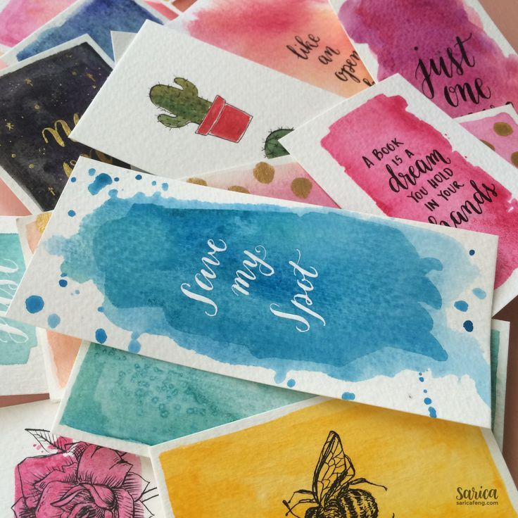 7 Watercolor Bookmark Ideas Watercolor Bookmarks Cute Bookmarks