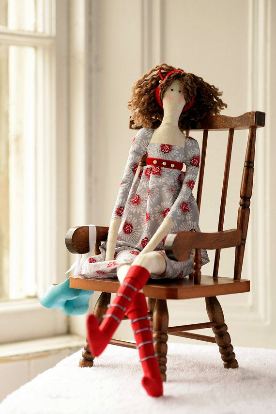 Tilda tall angel doll with shoes handmade by DorothysDream