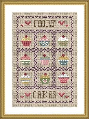 INSTANT DOWNLOAD Cupcakes Cross Stitch by littledovesamplers