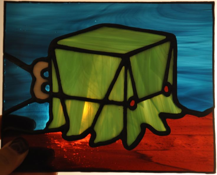 Squid cubi video games rpg anime etc stained glass for Assassin tattoo houston