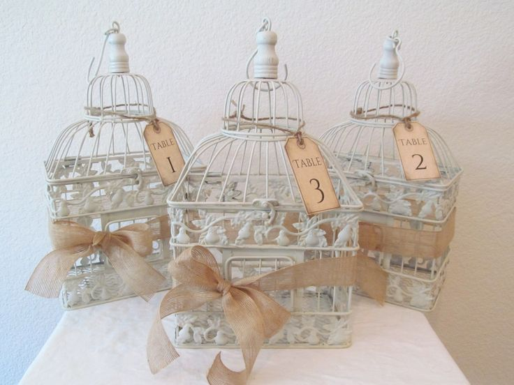 Wedding Birdcage Centerpieces Set Of 3 / by SouthburyTreasures, $62.00