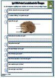 Unterrichtsmaterial für den Sachkundeunterricht.  Verschiedene Fragen zu dem Thema: Igel      Aussehen     Art / Gattung     Besonderheiten     Winterschlaf     Nahrung     Schlafzeit     Feinde     Jungtiere     Lückentext     47 Fragen     2 x Lernzielkontrollen     Ausführliche Lösungen