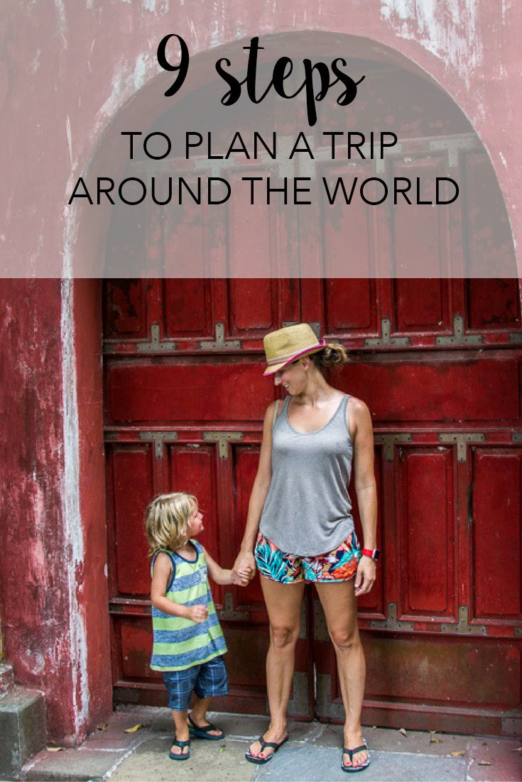 9 steps to plan a year long trip around the world with your family! www.cashcortez.com