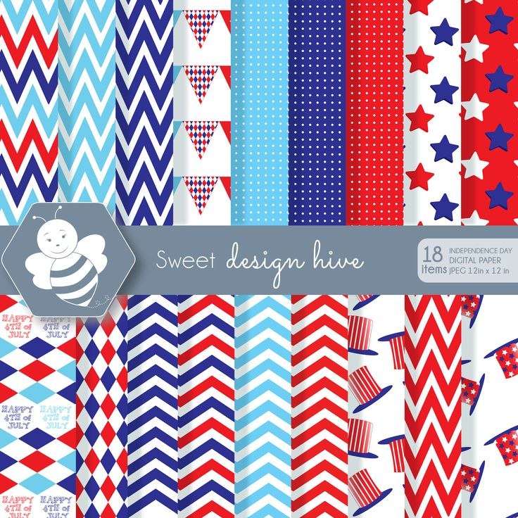 Independence Day 4th of July, DP0023 by Sweetdesignhive on Etsy