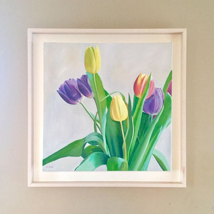 Tulips Emerboweart.  Buy it now on my etsy > https://www.etsy.com/ie/people/emerbowe?ref=hdr_user_menu #Painting #oiloncanvas #Art #oilpainting #oil #canvas #paint #irish #irishartist #EmerBowe #Tulips #Tulip #Flowers #flower #Natural #Wildlife #Floral