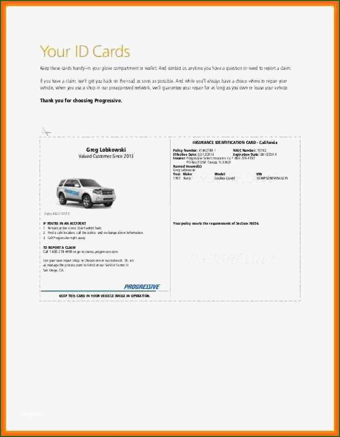 17 Exemplary Auto Insurance Card Template Free Download In 2020 Progressive Insurance Insurance Printable Card Template