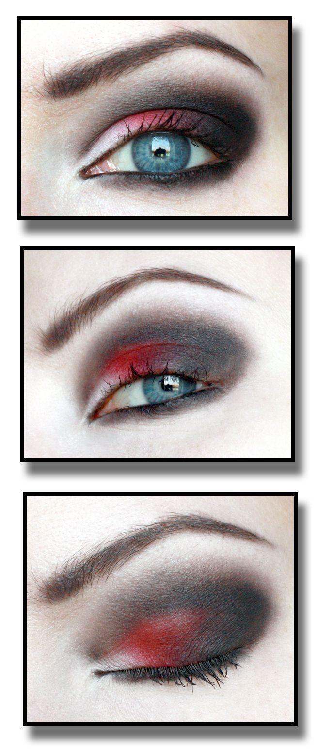 Red and black gothic makeup by aurelia87.deviantart.com on @deviantART