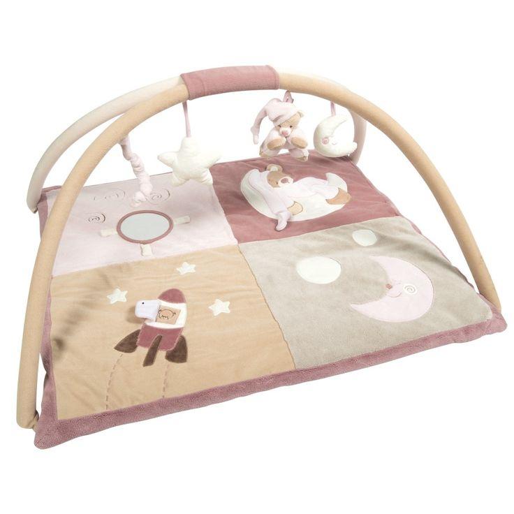 Play mat with arches pink bear Lena - #baby #bebe #doudou #knuffel #knuffelbeer #cuddlytoy #kuscheltier #nattou #papa #mama #mom #dad #father #mother #parents #maman #grossesse #zwanger #pregnant #pregnancy #zwangerschap #enceinte #cuddly #peluche #plush #Plusch #schwanger #geboorte #geburt #birth #naissance #vater #eltern #mutter #ragdoll #cuddly #toy #cadeau #gift #geschenk #bear #beer #ours #bar #roze #pink #rose #rosa