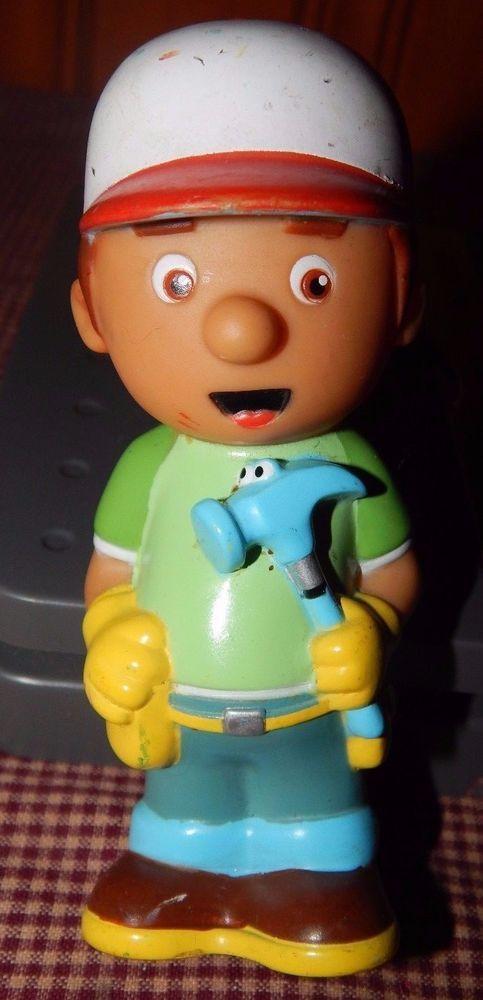 """Disney Handy Manny Pat Hammer Bath Tub Bathtub Toy PVC Plastic Action Figure 5"""" #DisneyJunior"""