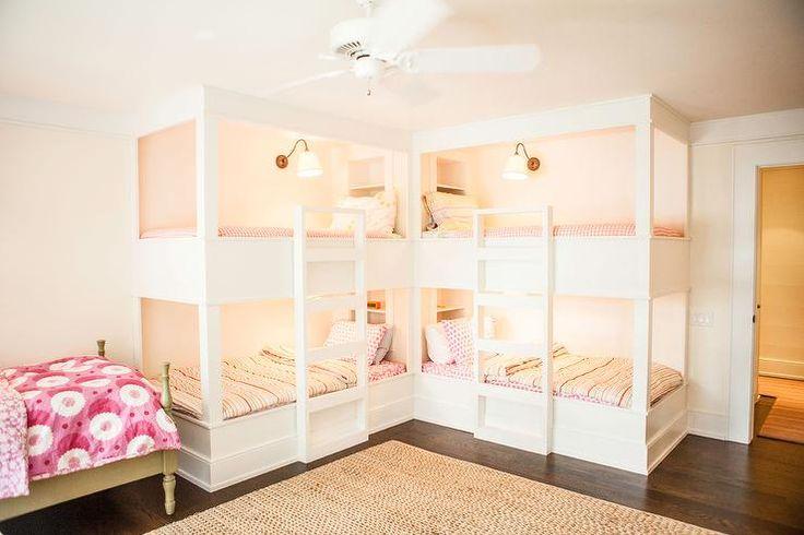 L Shaped Bunk Beds, Cottage, Girl's Room
