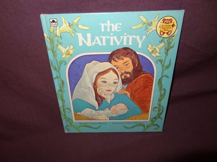 The Nativity Hardcover Book Childrens 1982 Golden Storytime Christmas Baby Jesus #GoldenStorytimeBook