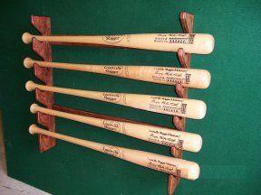 5 bat gun style display,Village Wood Shoppe