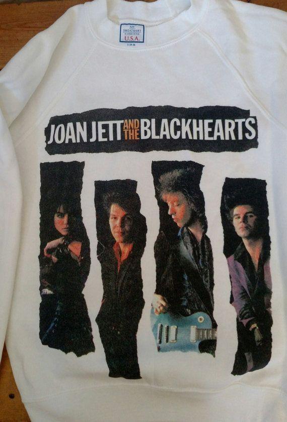Rare Vintage 80's Joan Jett promo tour sweatshirt