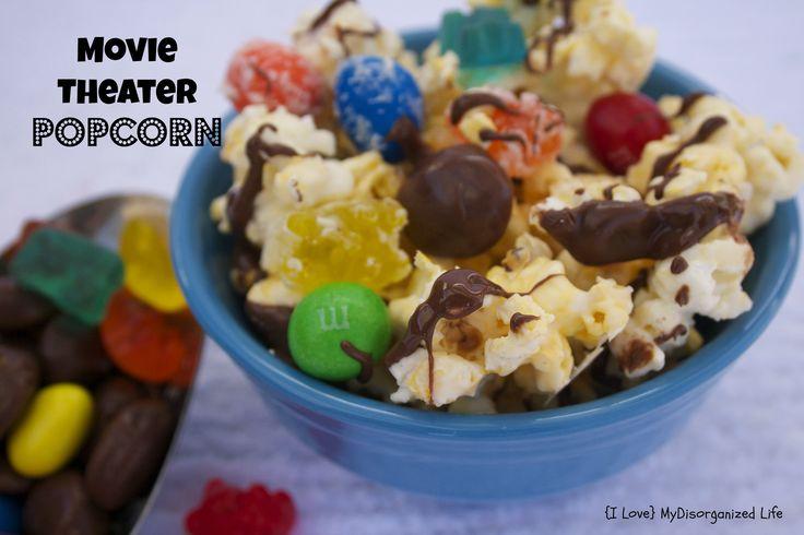 Movie Theater Popcorn/ {I Love} My Disorganized Life #popcorn #candy