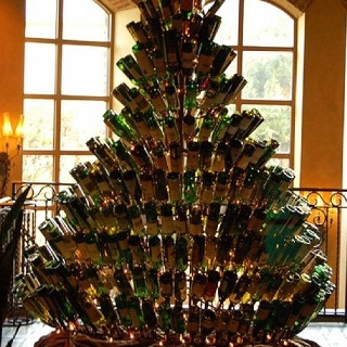 Wine lovers Christmas tree!