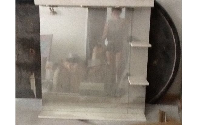 Espejo con luces dicroicas