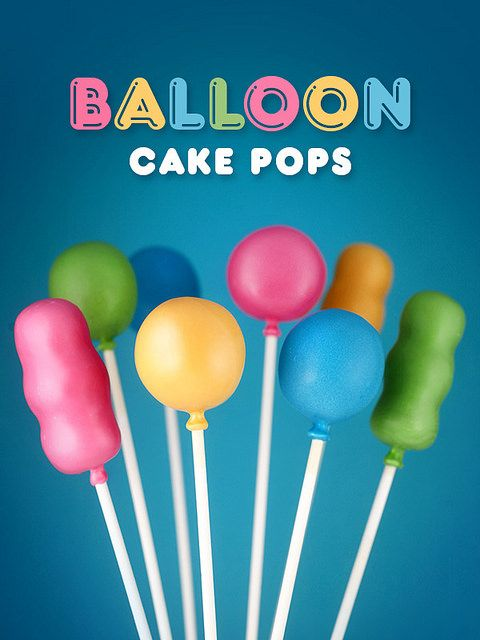 Party Balloon Cake Pops by Bakerella, via Flickr