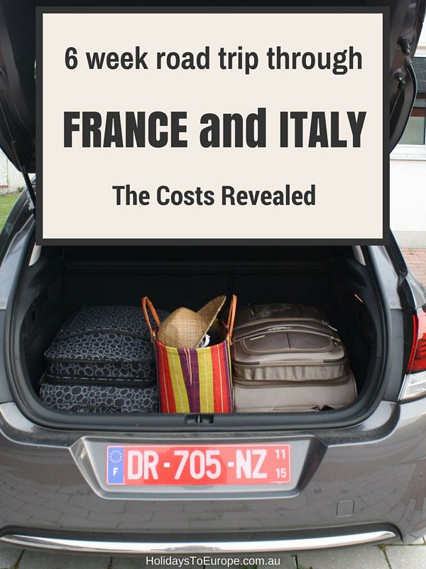 6 week road trip in France and Italy: the costs revealed. A breakdown of the driving-related expenses we incurred on our self-drive holiday through France and Italy.