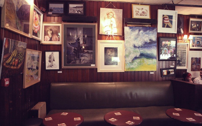 Grogans Pub (South William Street, Dublin) for good conversation, a good pint and a toasted sambo