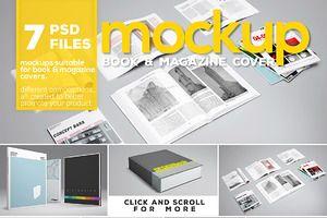 Book & Magazine Cover Mockup