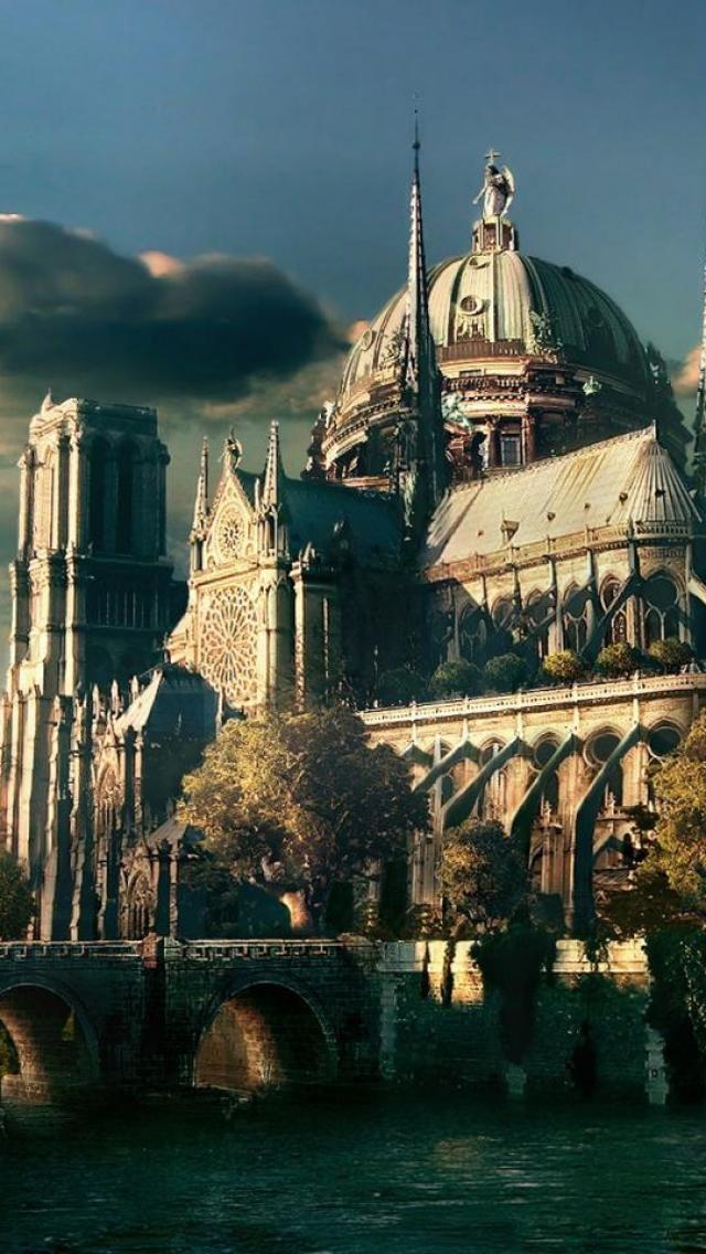 Fantasy art, Building, Castle