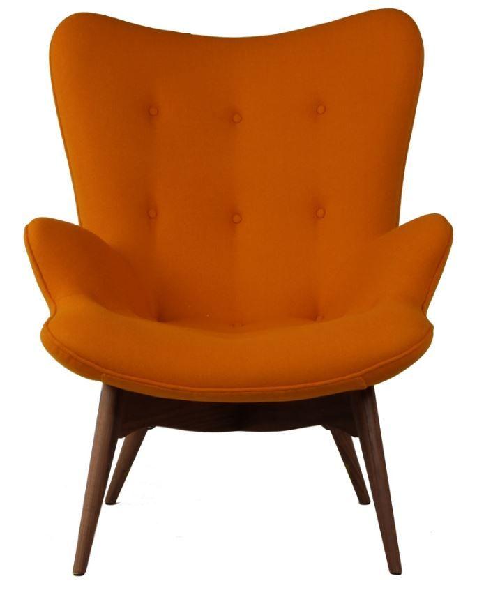 The Matt Blatt Replica Grant Featherston Contour Lounge Chair - Walnut/Dark Orange