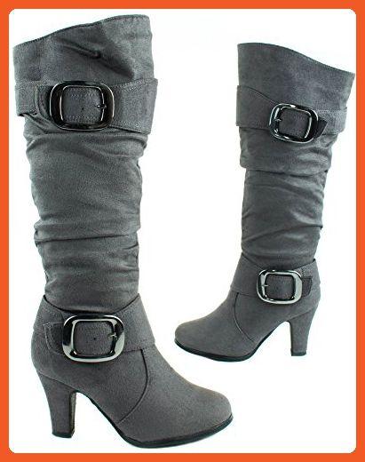 Anna Women's Nb200-04 Grey High Heel Boots 7.5 D(M) US - Boots for women (*Amazon Partner-Link)