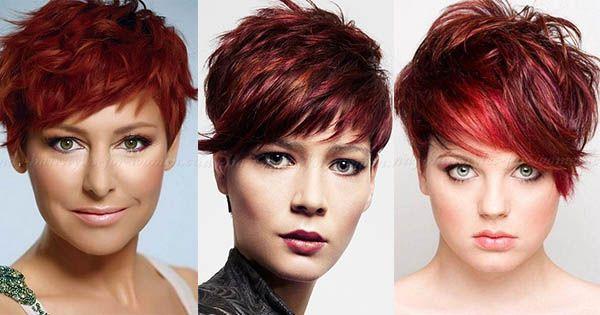 Donker rood is een prachtige haar kleur! Deze dames bewijzen maar weer hoe gaaf een donkere rode haarkleur kan staan in een korte coupe! Voor welke donker rode kleur zou jij gaan?