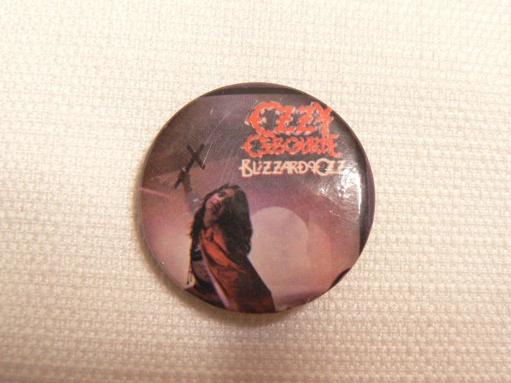 Vintage Early 80s Ozzy Osbourne - Blizzard of Ozz Album -  Pin / Button / Badge by beatbopboom on Etsy